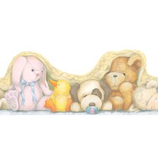 <strong>York Wallcoverings</strong> Peek-A-Boo Plush Toy Wallpaper Border