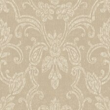 <strong>York Wallcoverings</strong> Heritage Home Romantic Damask Wallpaper
