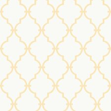 Peek-A-Boo Graphic Trellis Wallpaper