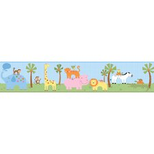 Peek-A-Boo Jungle Friends Border