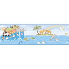 <strong>York Wallcoverings</strong> Peek-A-Boo Noah's Ark Wallpaper Border