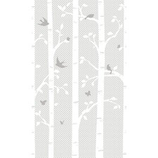 Peek-A-Boo Garden Butterflies / Birds Mural Wallpaper