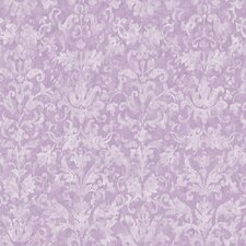 Peek-A-Boo Distressed Damask Wallpaper
