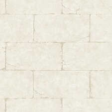 Fresco Sandstone Block Wall Trompe L'oeil Wallpaper