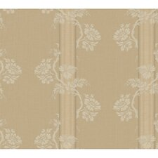 Fresco Floral Stripe Wallpaper