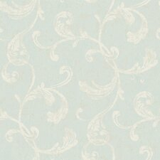 Fresco Velvet Scroll Wallpaper