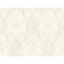 Fresco Wood Damask Wallpaper