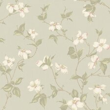 <strong>York Wallcoverings</strong> Royal Cottage Dogwood Floral Bontanical Wallpaper