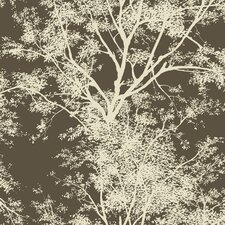 Silhouettes Tree Floral Botanical Wallpaper