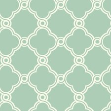 Silhouettes Fretwork Trellis Wallpaper