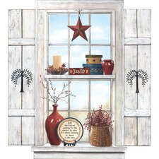 Portfolio II Trompe L'Oiel Country Folk Art Window Wall Mural