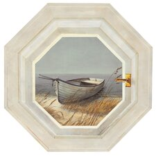 Mural Portfolio II Trompe L'Oiel Shoreline Boat Hexagonal Window Accent Wall Decal