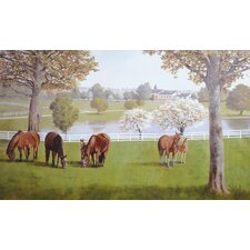 Portfolio II Horse Farm with Fences Wall Mural