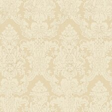 Aged Elegance Grey Garden Wallpaper