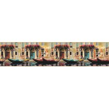 <strong>York Wallcoverings</strong> Mural Portfolio II Gondolas Of Venice Scenic Border Wallpaper