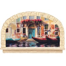 <strong>York Wallcoverings</strong> Mural Portfolio II Gondolas Of Venice Wall Decal