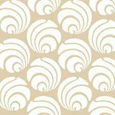 Silhouettes Large Circle Swirl Geometric Wallpaper
