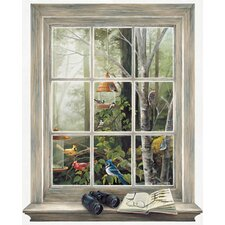 Mural Portfolio II Bird Watching Trompe L'Oiel Window Accent Wall Decal