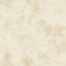 Aged Elegance II Athena Scroll Wallpaper