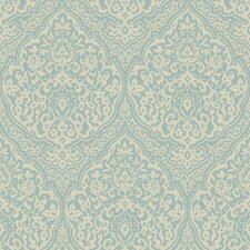 Gentle Manor Framed Damask Wallpaper
