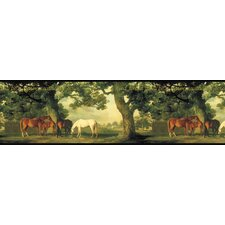 Mural Portfolio II God Forbid Heaven without Horses Border Wallpaper