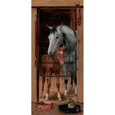 Portfolio II Trompe L'Oiel Stable Door Accent Wall Mural