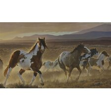 Portfolio II Desert Horse, Sage Plains Grasses and Foothill Mountains Wall Mural