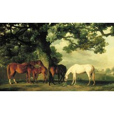 Portfolio II Pastures with Shady Glen, Thoroughbred Horses Wall Mural