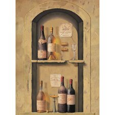 Portfolio II Wine Bottle Niche Wall Mural