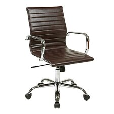 Thick Padded Chair with Built-in Lumbar Support
