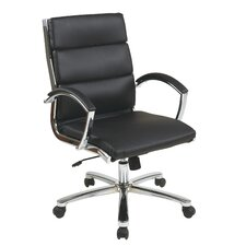 Mid-Back Executive Office Chair with Padded Arms