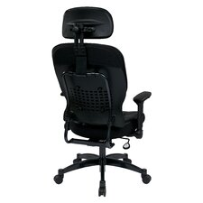 "<strong>Office Star Products</strong> Space 23.25"" Eco Leather Managers Chair with Headrest"