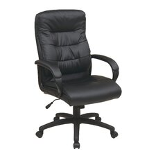 <strong>Office Star Products</strong> High Back Executive Chair with Padded Arms