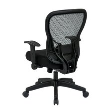 "Space 28"" Back Chair with Mesh Seat and Flip Arms"