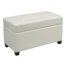 <strong>Office Star Products</strong> OSP Designs Vinyl Storage Ottoman