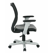 Work Smart Mid-Back Mesh Executive Chair with Flip Arms