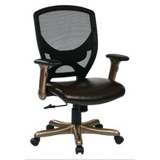 "<strong>Office Star Products</strong> 41"" Woven Mesh Back Chair with Padded Flip Arms"