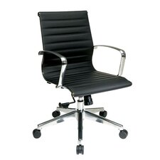 Eco Leather Conference Chair in Black