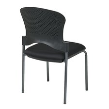 Titanium Finish Stacking Visitors Chair Armless, FreeFlex Fabric