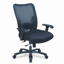 Space Air Grid Executive Big & Tall Chair, Air Grid Back/Mesh Seat