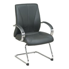 <strong>Office Star Products</strong> ProLine II Deluxe Leather Visitors Chair