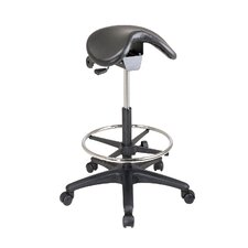 <strong>Office Star Products</strong> Height Adjustable Backless Stool with Saddle Seat
