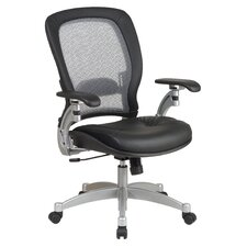 <strong>Office Star Products</strong> SPACE Air Grid Executive Leather Office Chair with Arms