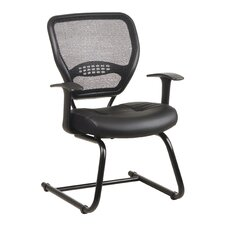 "Space 18.5"" Visitors Chair with Eco Leather Seat"