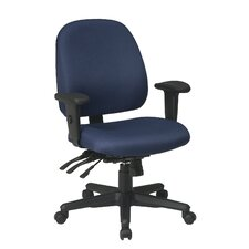<strong>Office Star Products</strong> Ergonomic Mid-Back Office Chair with Arms
