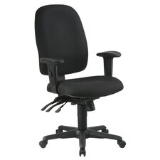 <strong>Office Star Products</strong> Ergonomic Mid-Back Office Chair with Adjustable Soft Padded Arms