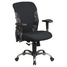 <strong>Office Star Products</strong> Mesh Mid-Back Office Chair with Arms