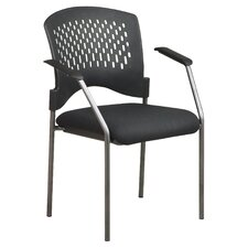 <strong>Office Star Products</strong> Titanium Finish Visitor's Chair (Set of 4)