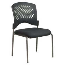 <strong>Office Star Products</strong> Titanium Finish Visitor's Chair With Plastic Wrap Around Back