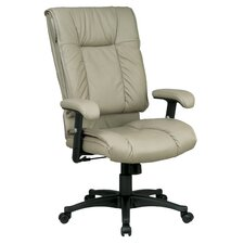 <strong>Office Star Products</strong> Deluxe High-Back Leather Executive Chair